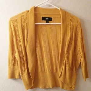 Mossimo cropped Cardigan mustard L